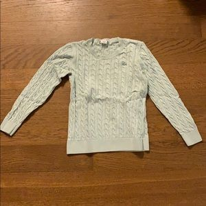 Lacoste Green Crewneck Cable Knit Sweater